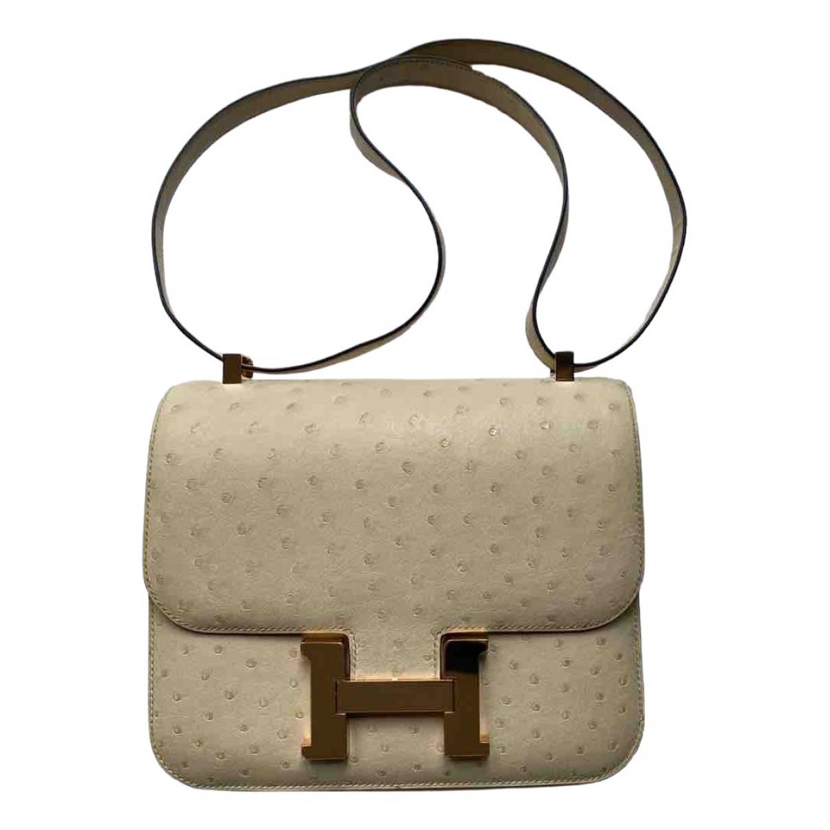 Hermès Constance Beige Ostrich handbag for Women \N