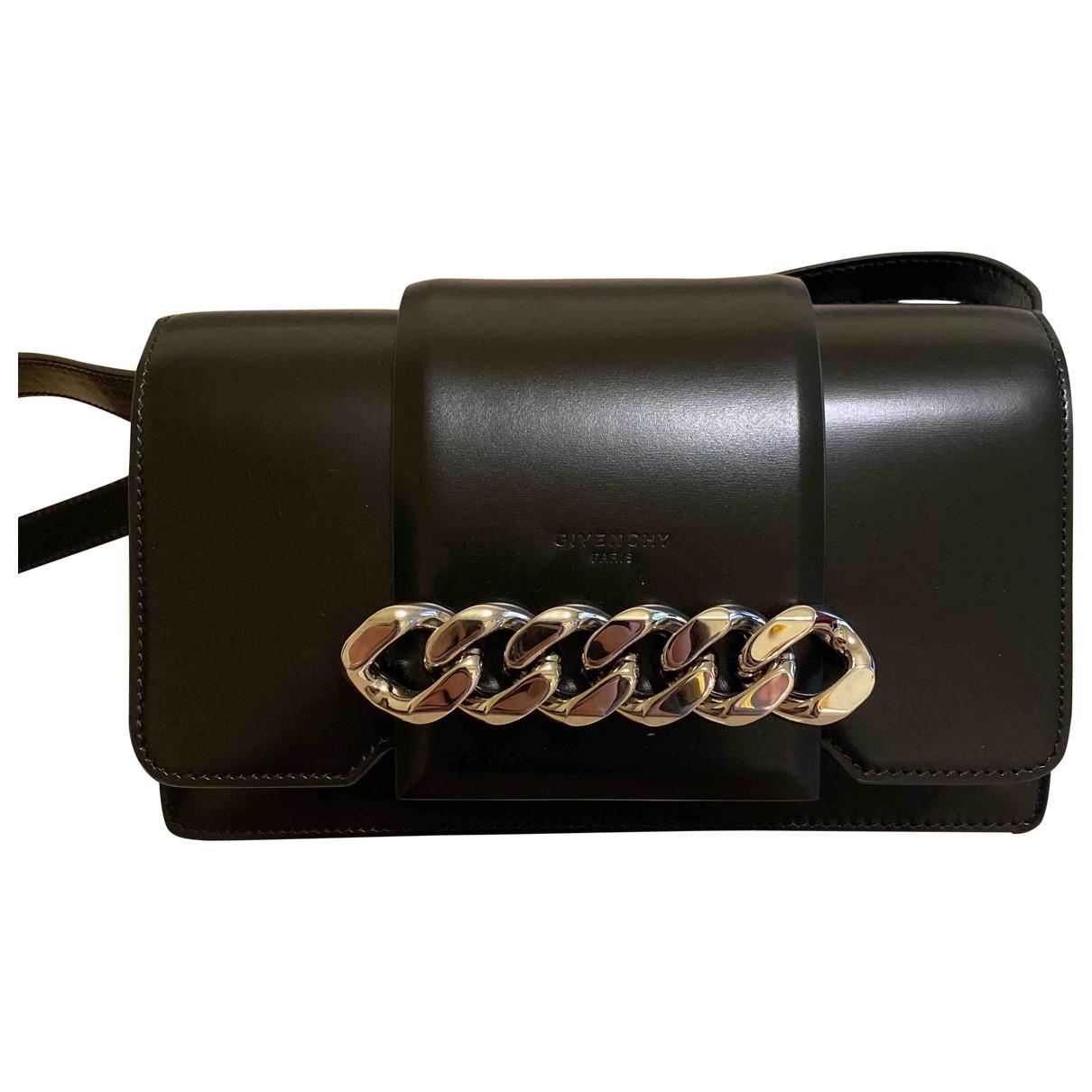 Givenchy - Sac a main Infinity pour femme en cuir - noir