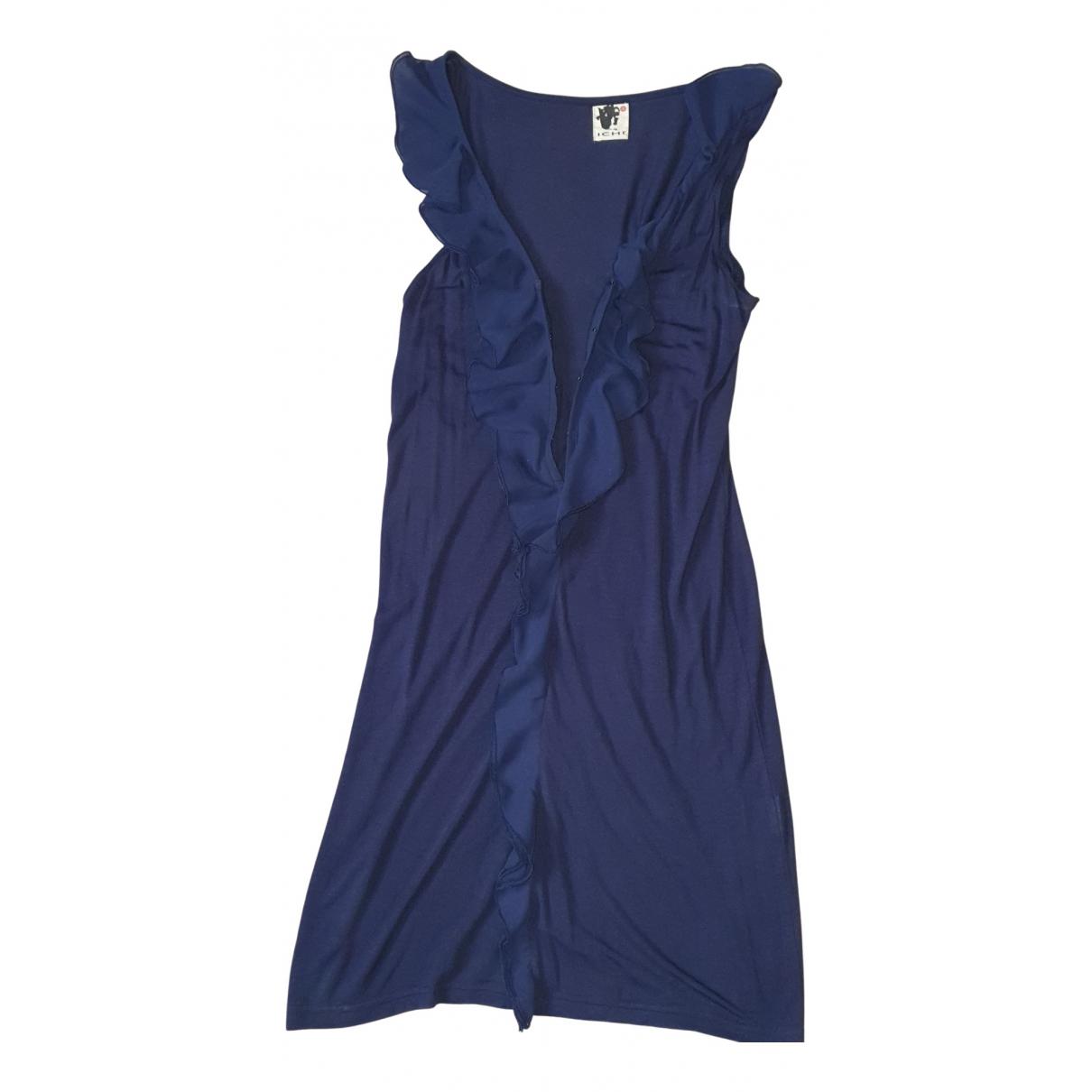 Ichi - Robe   pour femme en coton - marine