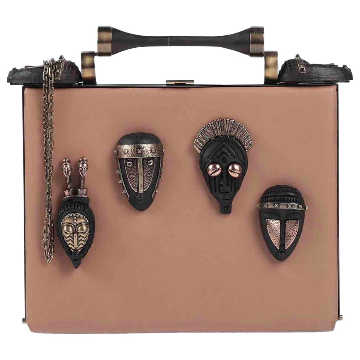 Valentino Garavani \N Beige Leather handbag for Women \N