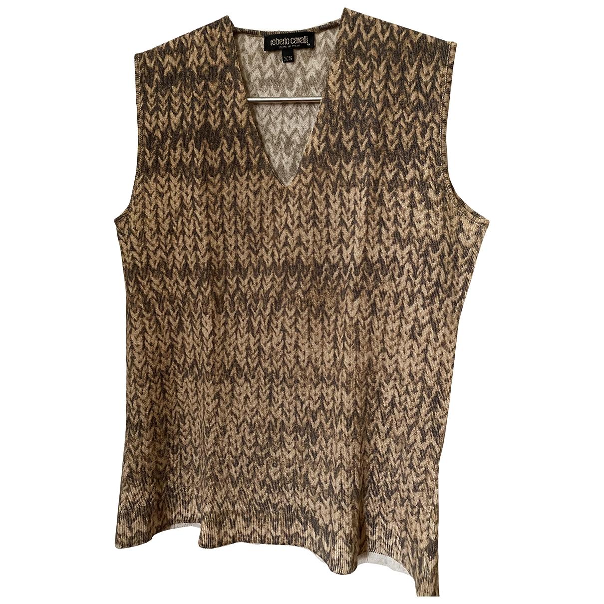 Roberto Cavalli - Top   pour femme en laine - beige