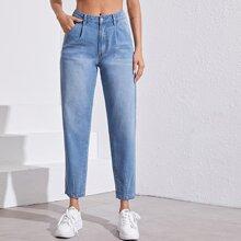 Jeans mit Waesche
