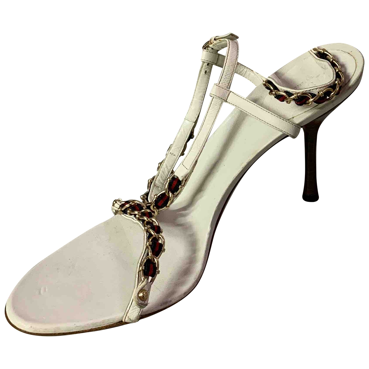 Gucci \N White Leather Sandals for Women 40 EU
