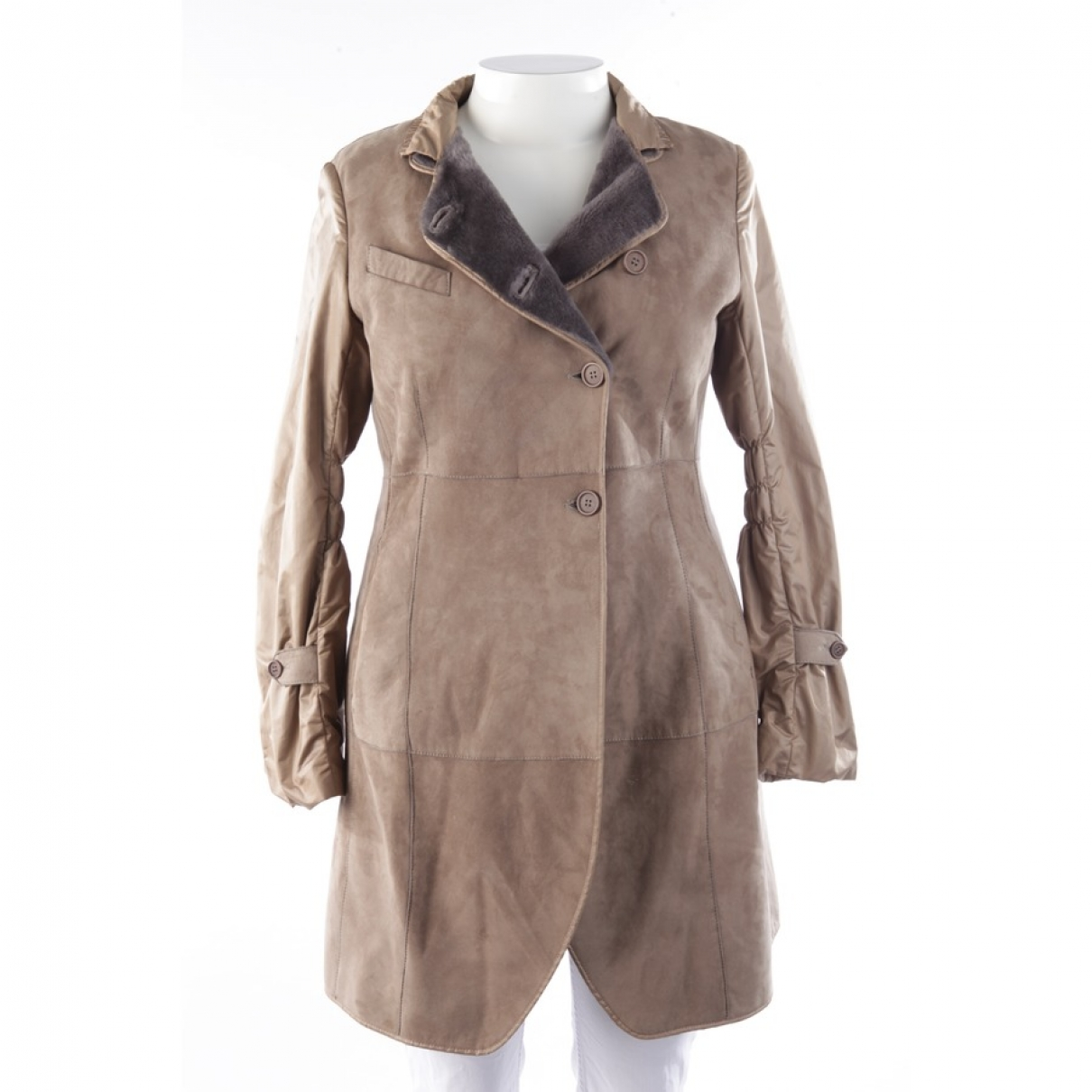 Brunello Cucinelli \N Brown Leather coat for Women 40 FR