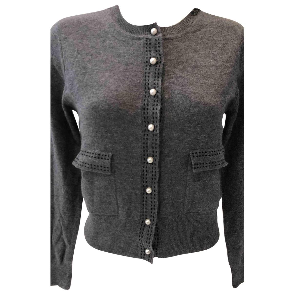 Sandro - Pull   pour femme en laine - gris
