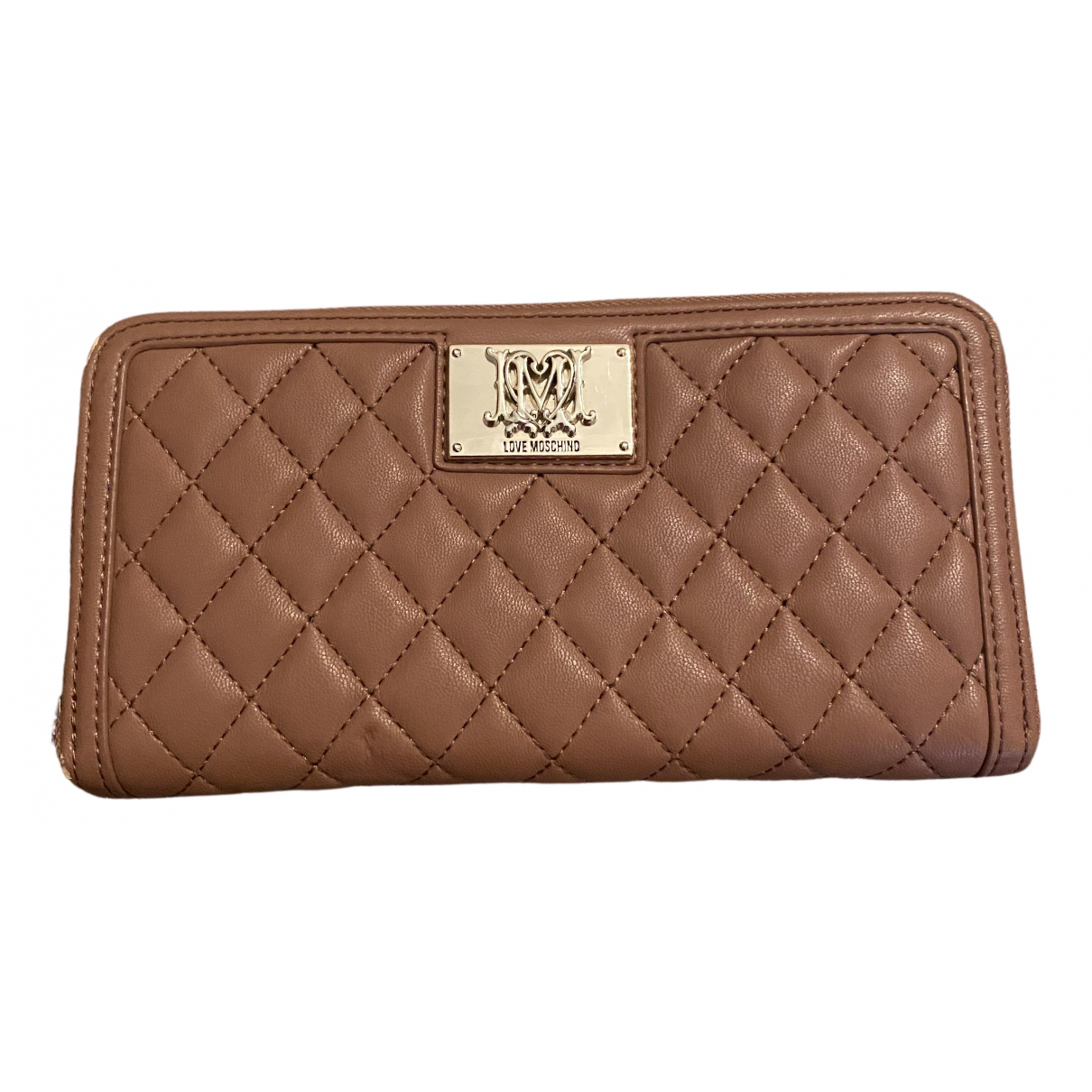 Moschino \N Brown Leather wallet for Women \N