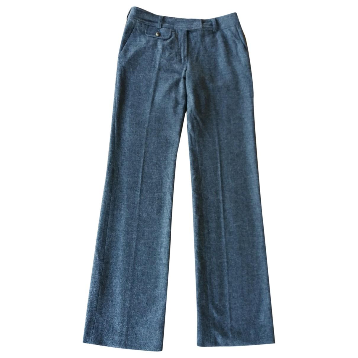 Kenzo \N Grey Wool Trousers for Women 36 FR