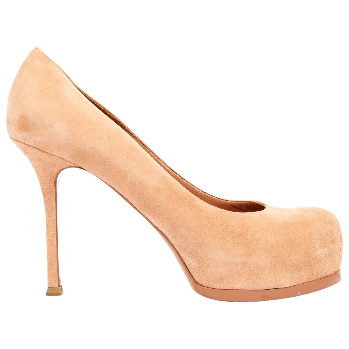 Yves Saint Laurent Trib Too Pink Suede Heels for Women 40 EU