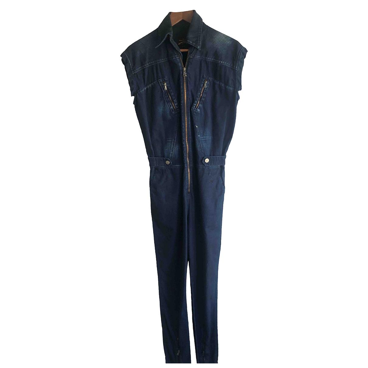 Vivienne Westwood Anglomania - Combinaison   pour femme en denim - bleu