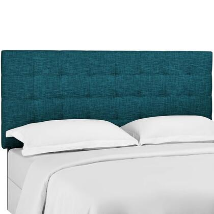 Paisley Collection MOD-5855-TEA Tufted King and California King Upholstered Linen Fabric Headboard in Teal