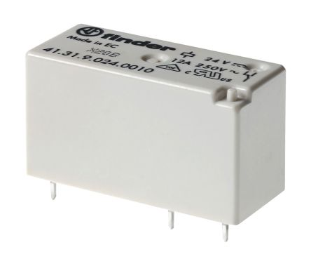 Finder , 24V ac SPDT Power Relay Module, PCB Pin Terminal , PCB Mount