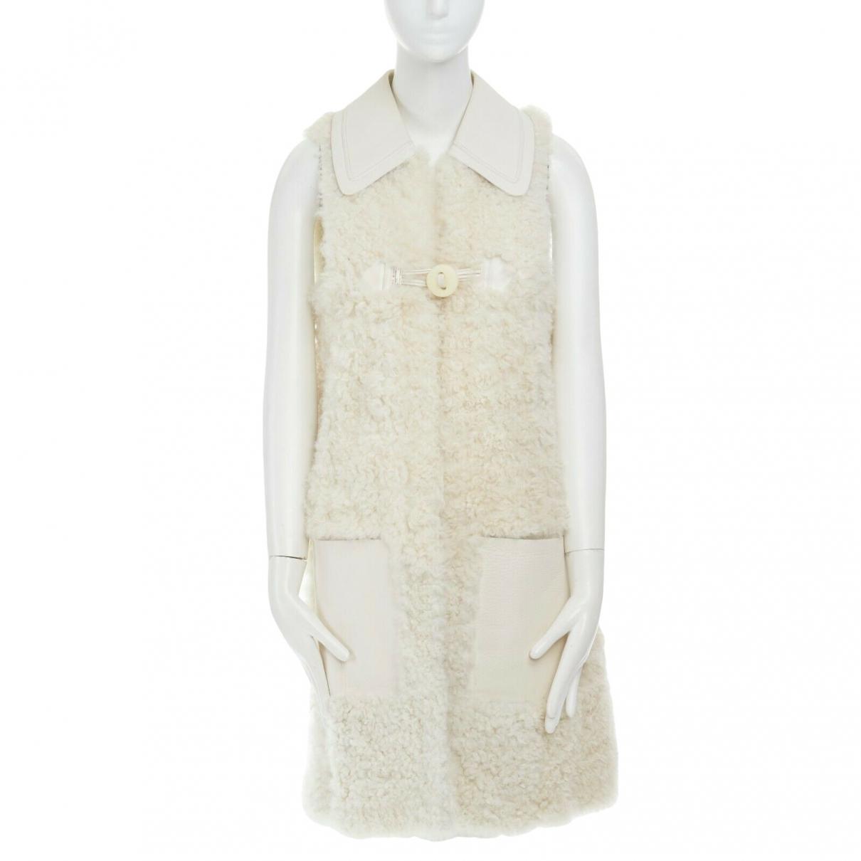 Fendi - Veste   pour femme en mouton - blanc