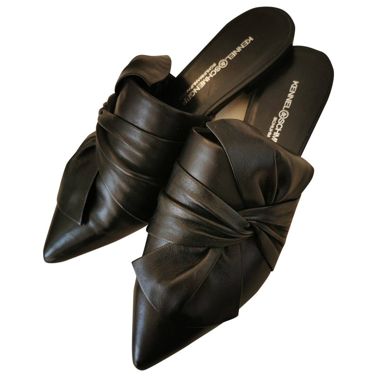 Kennel Und Schmenger \N Black Leather Mules & Clogs for Women 4.5 US
