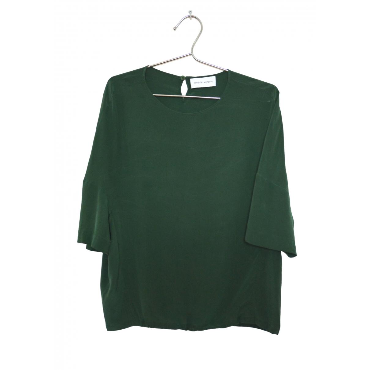 Christian Wijnants - Top   pour femme en soie - vert