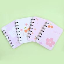 1 Stueck zufaelliges Notizbuch mit Blumen Muster