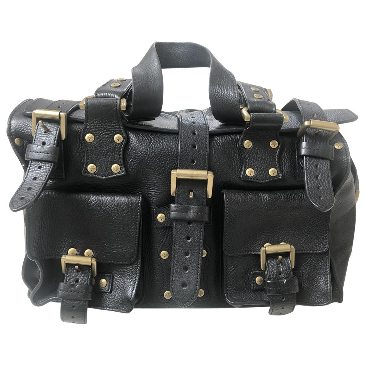 Mulberry Roxanne Handtasche in  Schwarz Leder
