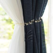 1pc Faux Pearl Curtain Tie Back