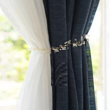 1 Stueck Vorhang Band mit Kunstperlen