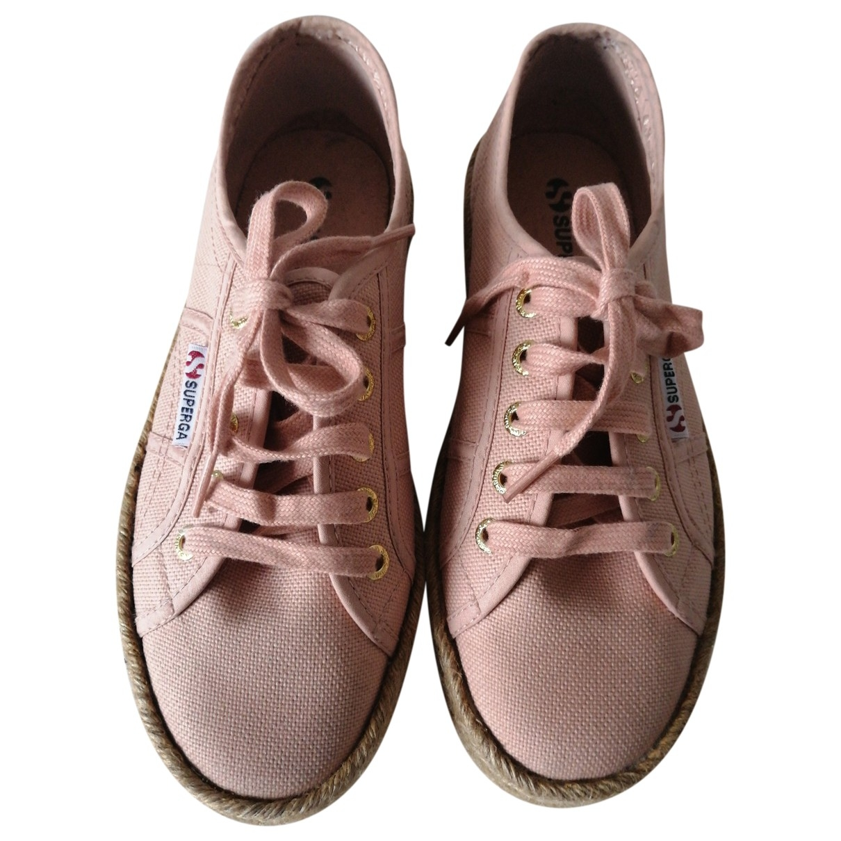 Superga \N Pink Cloth Trainers for Women 37 EU