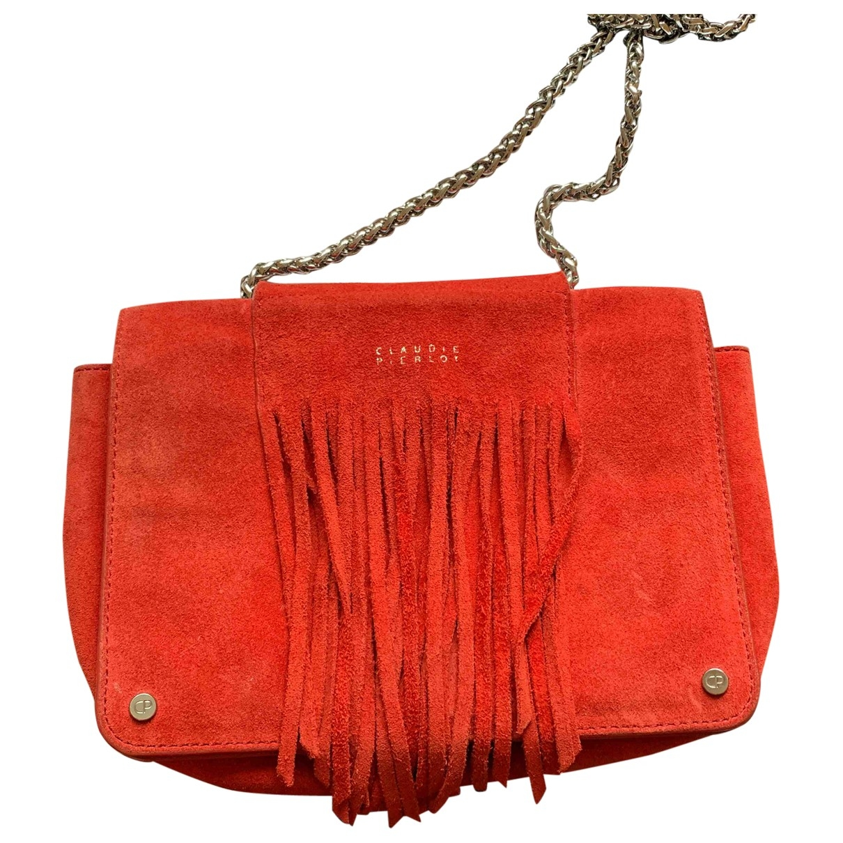 Claudie Pierlot \N Red Suede handbag for Women \N