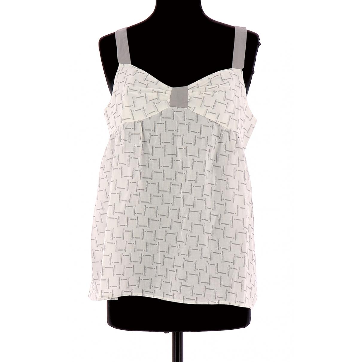 Comptoir Des Cotonniers \N Grey Cotton  top for Women 40 FR