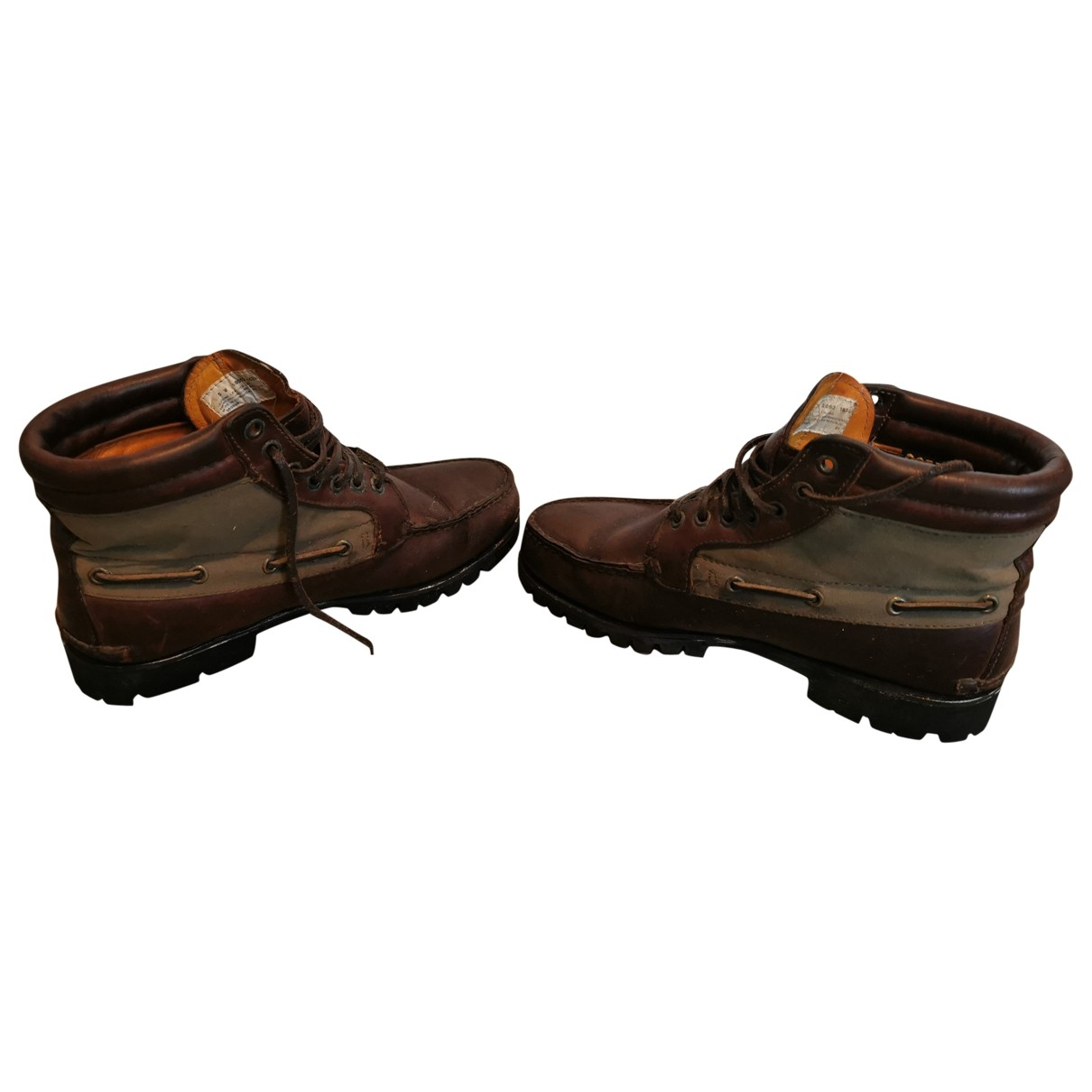 Timberland \N Brown Leather Boots for Men 8.5 UK
