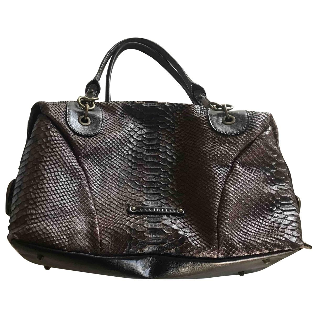 Coccinelle \N Handtasche in  Braun Exotenleder