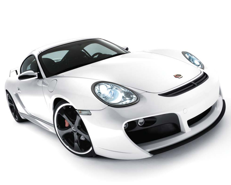 TechArt 087.100.124.009CHR Front Spoiler Type 2 GTS with Chrome Running Lights Porsche Boxster 987.2 without OE DRL 09-12