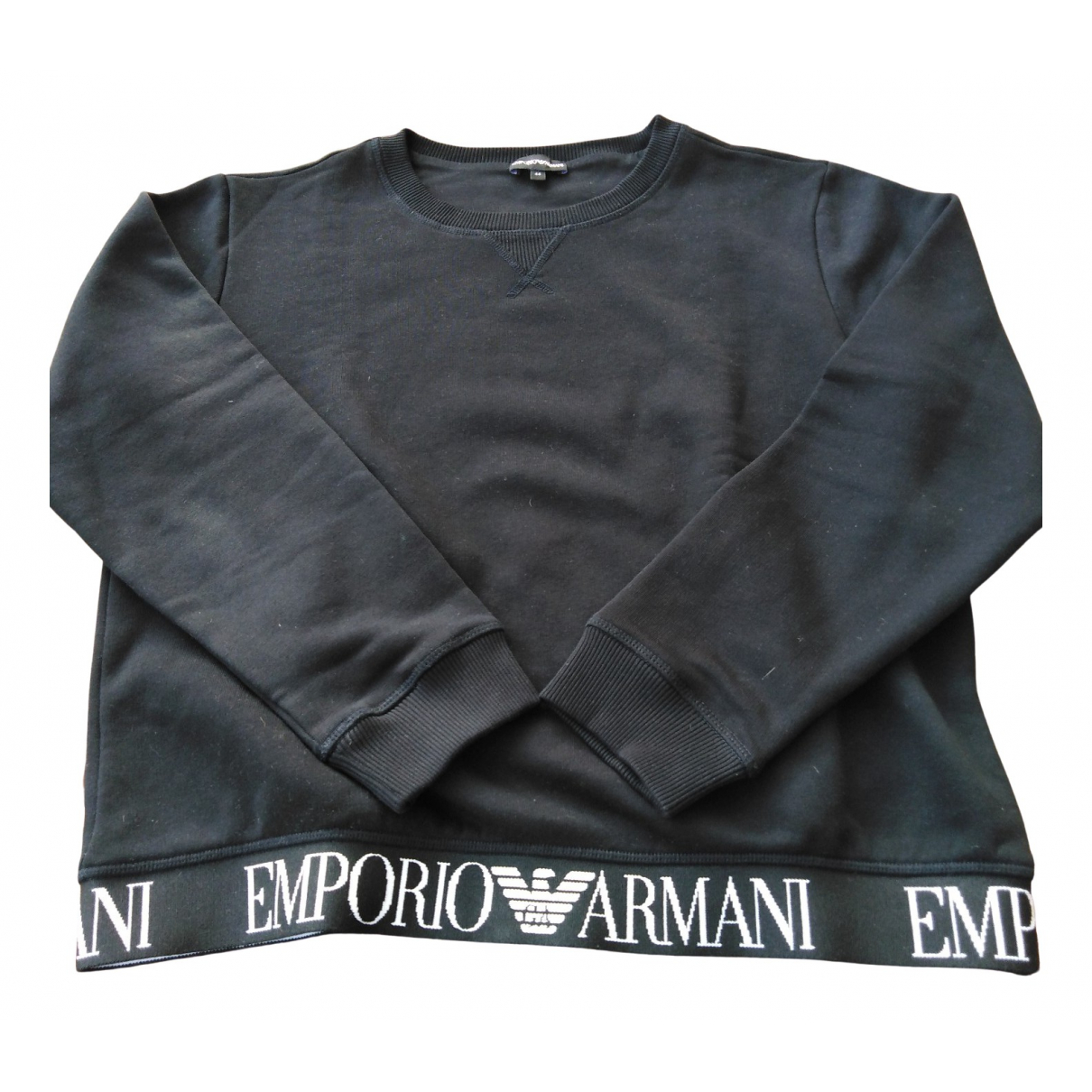 Emporio Armani \N Pullover in  Schwarz Baumwolle