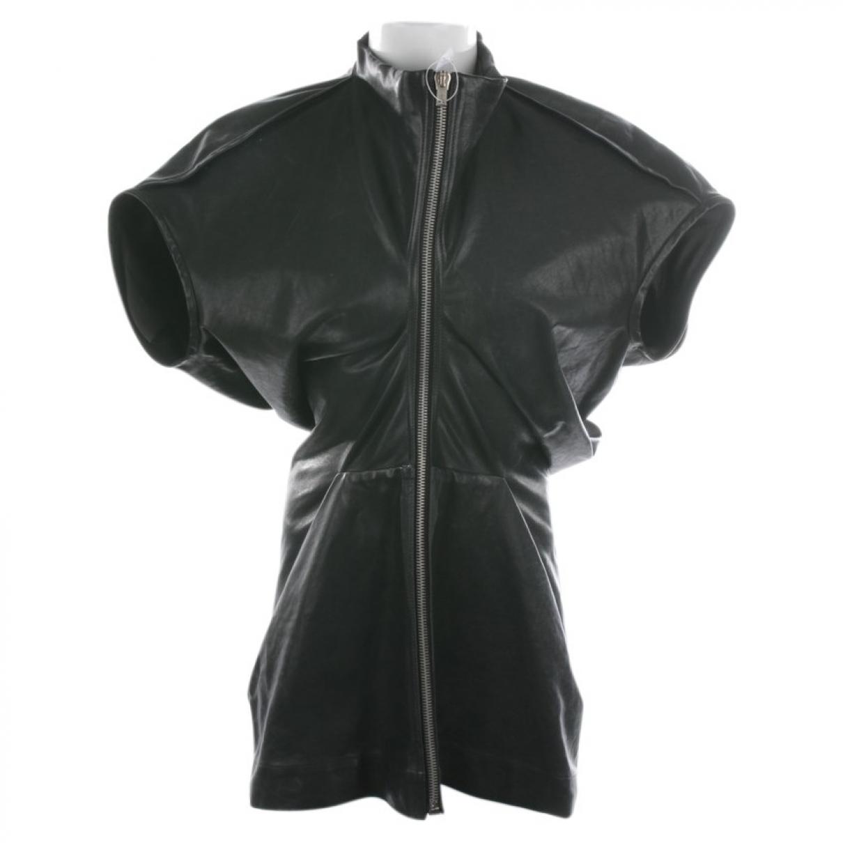 Rick Owens - Top   pour femme en cuir - noir