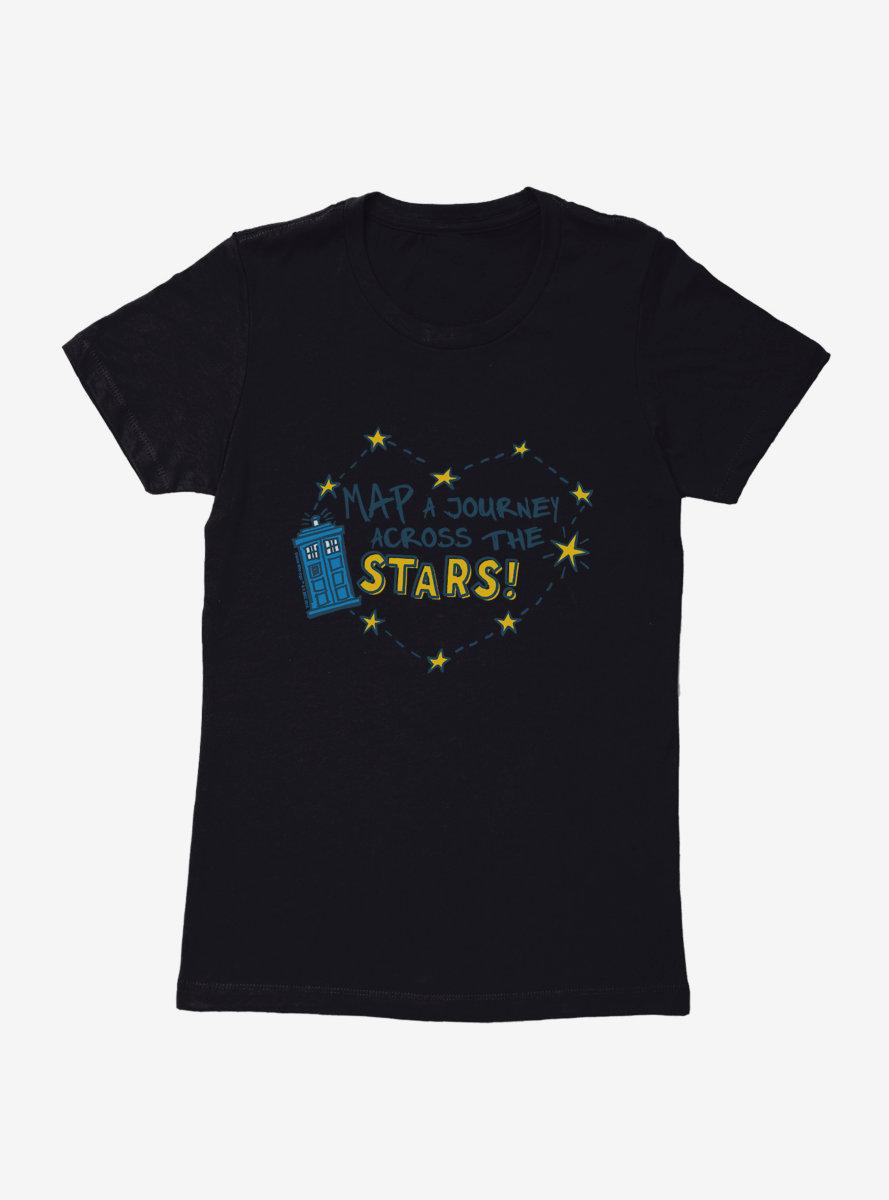 Doctor Who TARDIS Across The Stars Womens T-Shirt