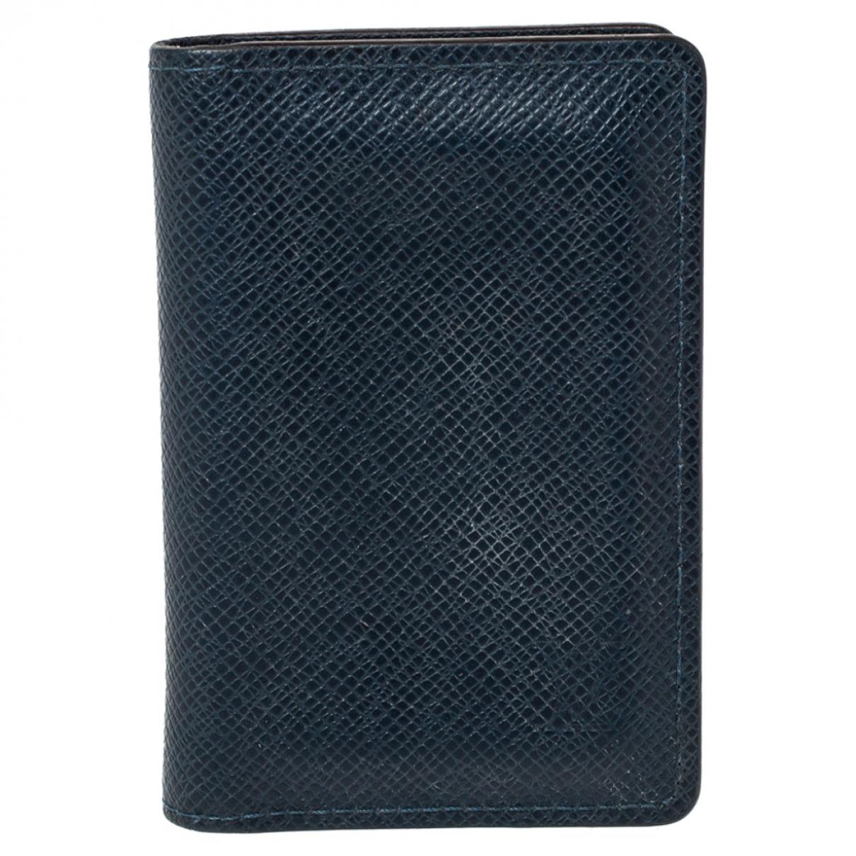 Louis Vuitton \N Portemonnaie in  Marine Leder