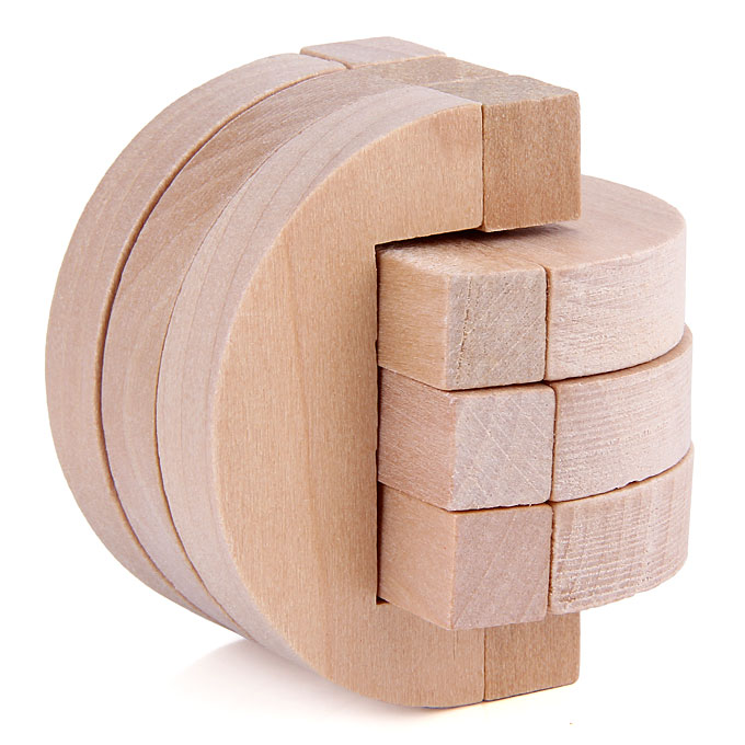 Three`s Company Ru Bun Lock Children Puzzle Toy Building Blocks