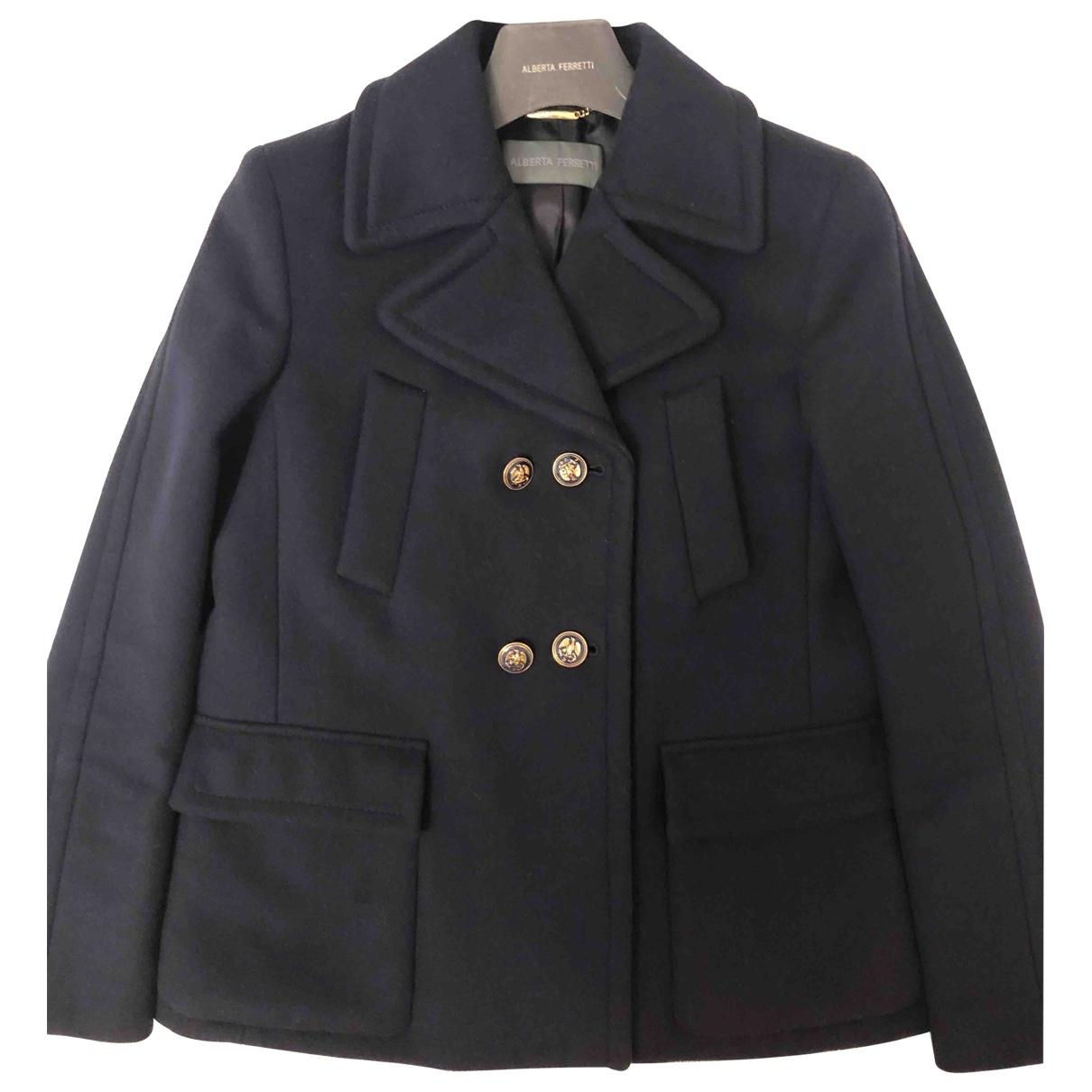 Alberta Ferretti \N Blue Wool coat for Women 42 IT