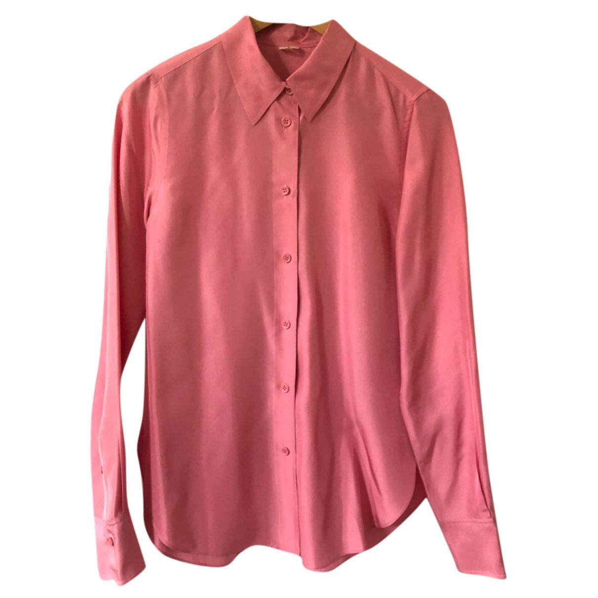 Arket - Top   pour femme en soie - rose