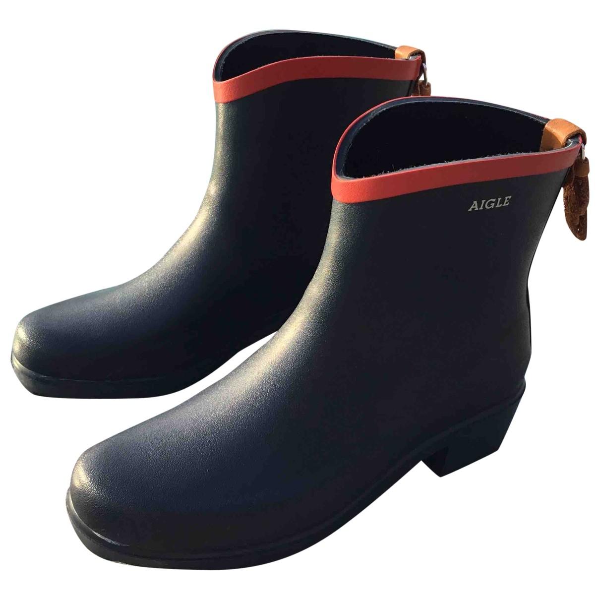 Aigle - Boots   pour femme en caoutchouc - bleu