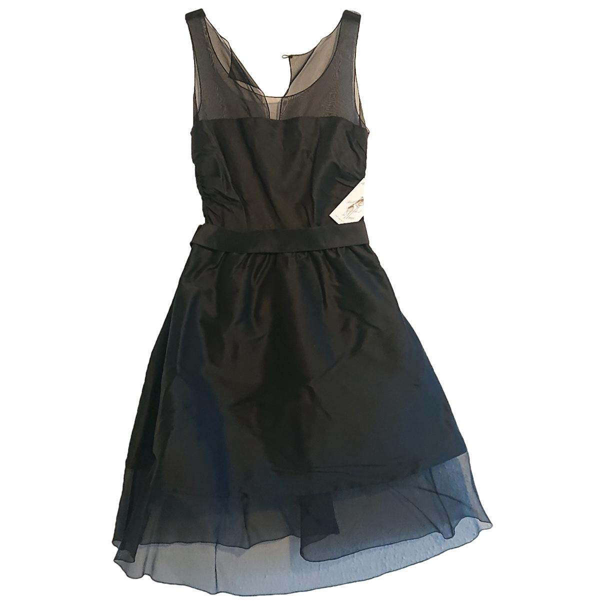 Karl Lagerfeld Pour H&m \N Kleid in  Schwarz Seide