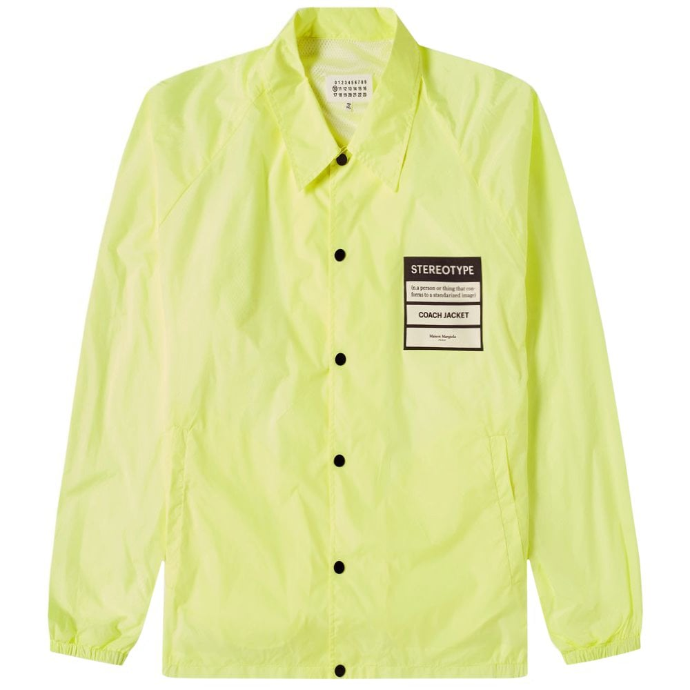 Maison Margiela 10 Stereotype Coach Jacket Yellow Size: MEDIUM, Colour: YELLOW