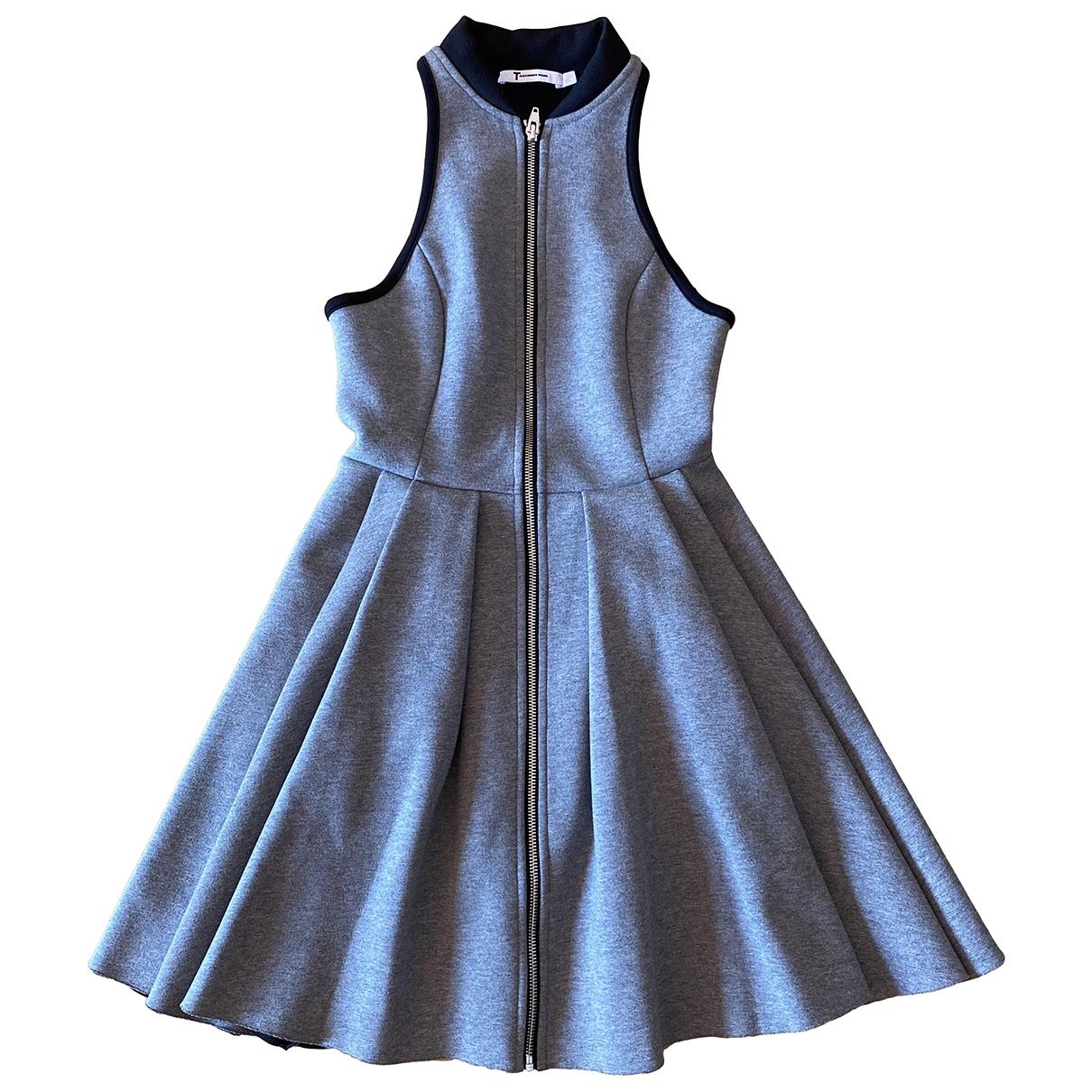 T By Alexander Wang \N Grey Cotton dress for Women 34 FR