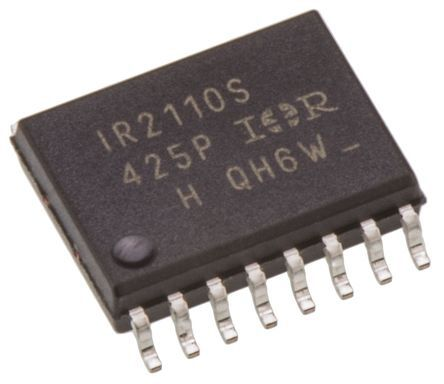 Infineon IR2110SPBF Dual High and Low Side MOSFET Power Driver, 2.5A 16-Pin, SOIC W (45)
