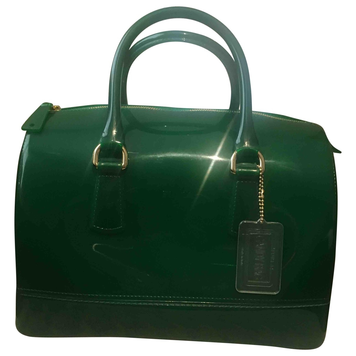 Furla Candy Bag Green handbag for Women \N