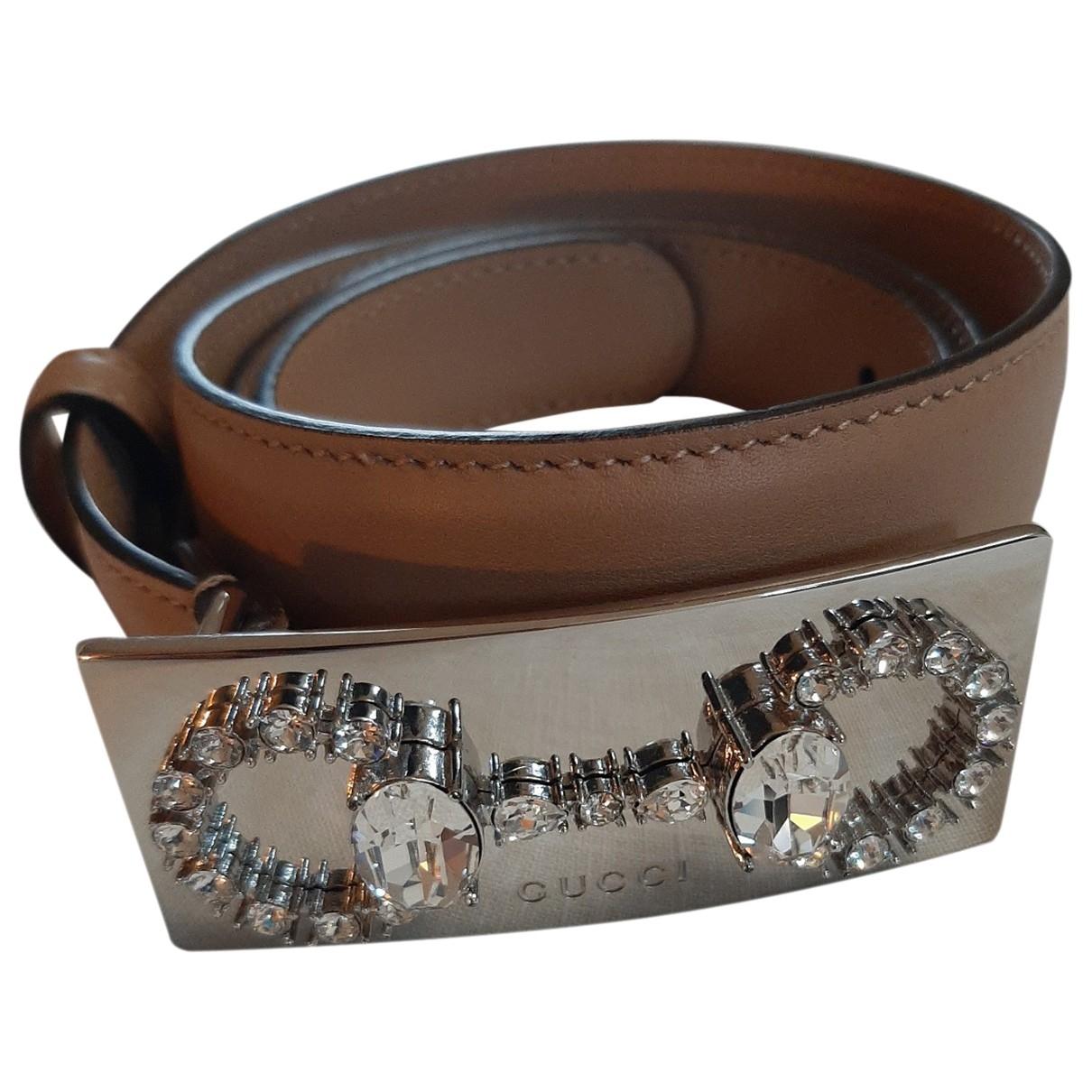 Gucci \N Beige Leather belt for Women S International