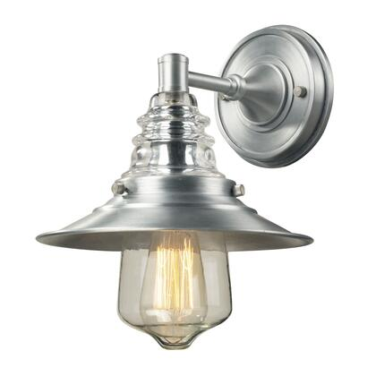 66700-1 Insulator Glass 1 Light Outdoor Sconce in Brushed
