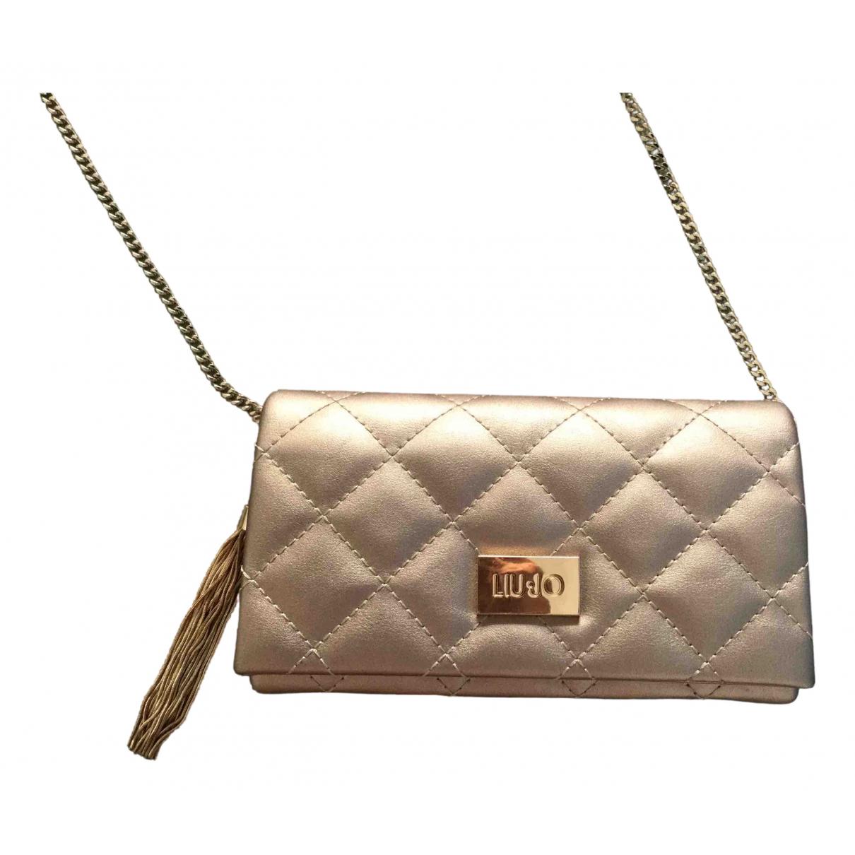 Liu.jo \N Gold Exotic leathers Clutch bag for Women \N
