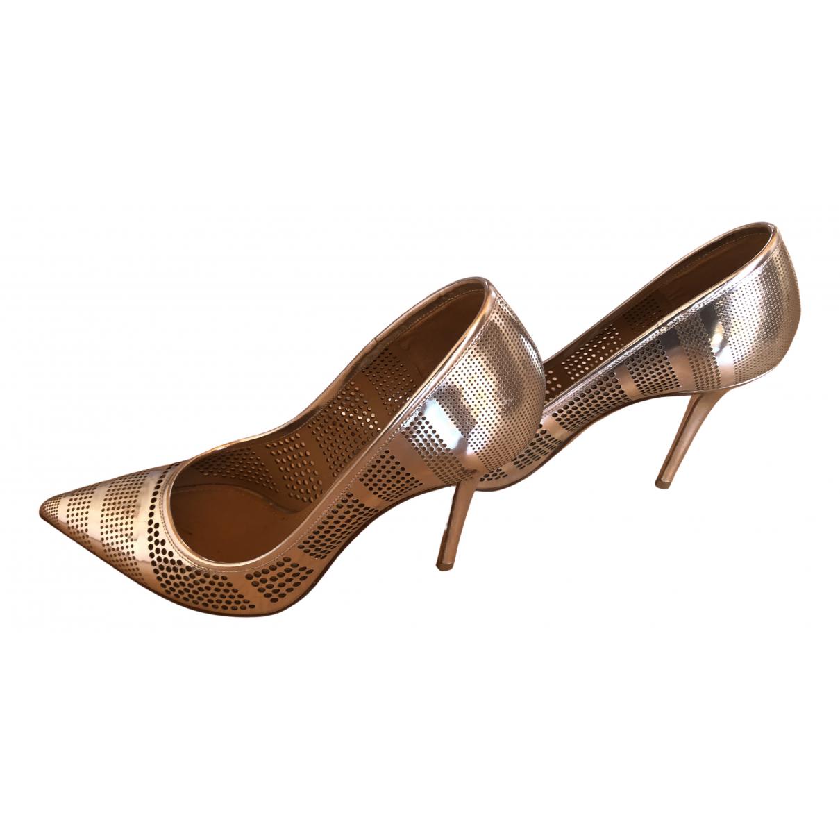 Salvatore Ferragamo N Silver Leather Heels for Women 8.5 US