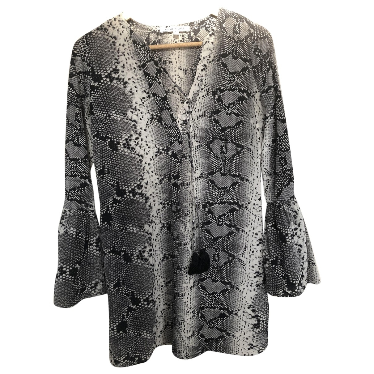 Elizabeth And James - Robe   pour femme en soie - gris