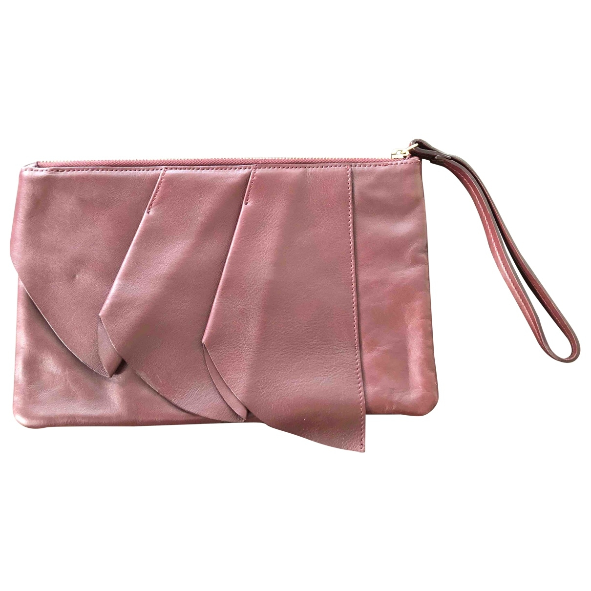 & Stories \N Burgundy Leather Clutch bag for Women \N