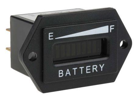 RS PRO Lead-acid Battery indicator 12/24Vdc