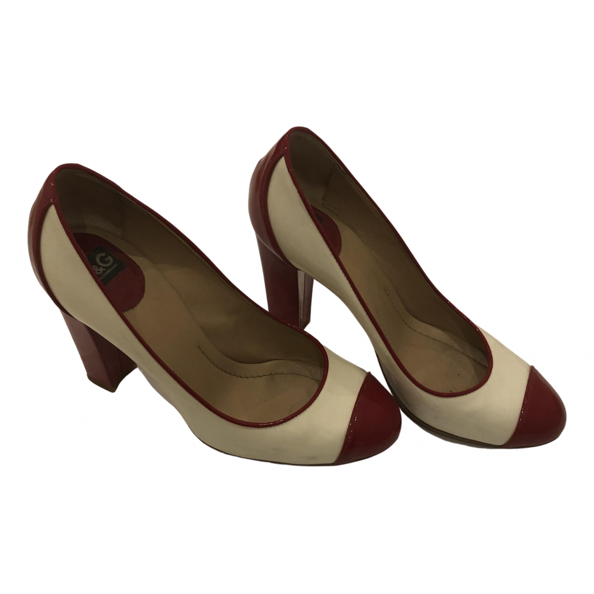 D&g N White Patent leather Heels for Women 39.5 EU