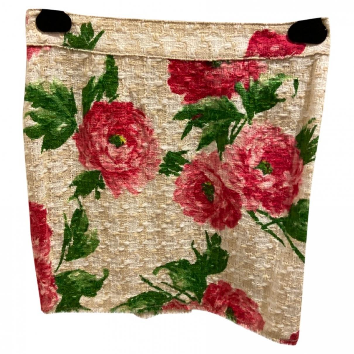 D&g \N Ecru Tweed skirt for Women 42 IT